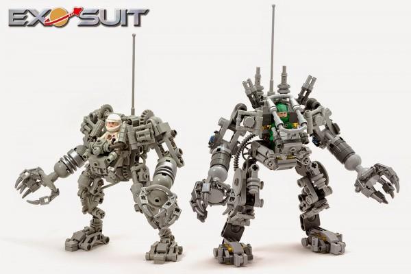 Comparaison LEGO Exo Suit