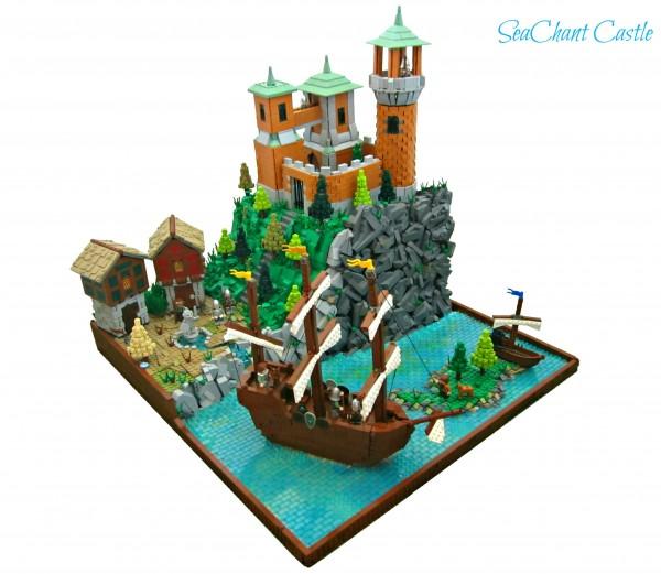 MOC SeaChant Castle