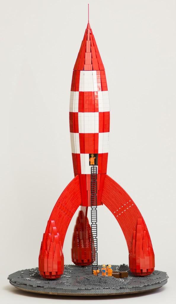 Tintin fusée LEGO 1