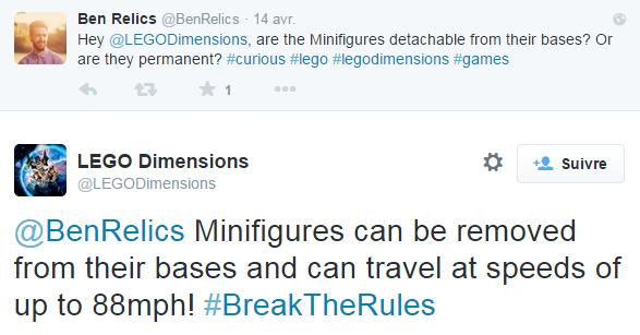 LEGO Dimensions tweet