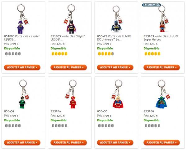Porte clés LEGO DC Comics