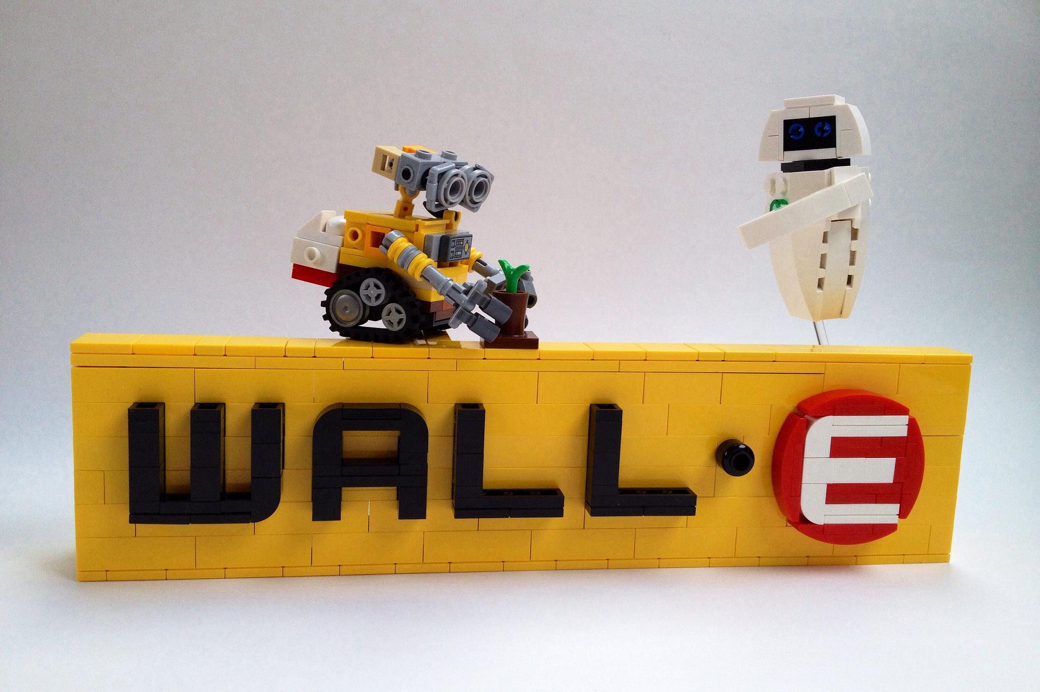 Logo wall e hellobricks blog lego for Wall e deco vendita on line