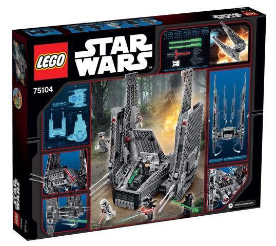 75104 Kylo Ren's Command Shuttle box back