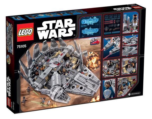 75105 Millennium Falcon box back