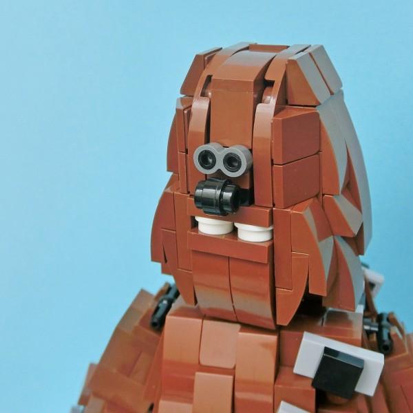 LEGO Chewbacca zoom