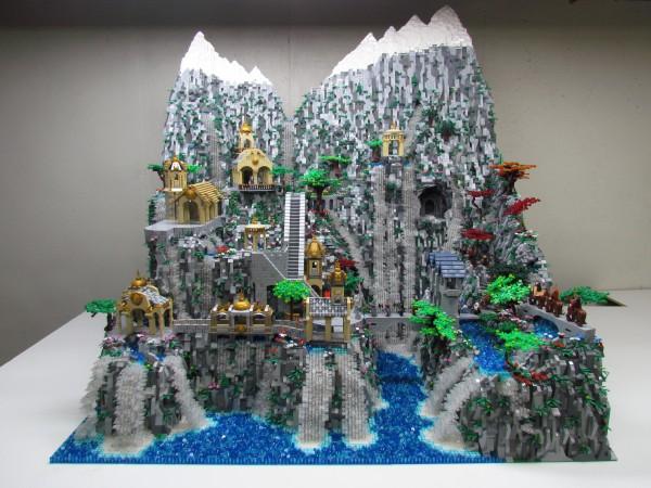 LEGO Ideas Rivendell diorama