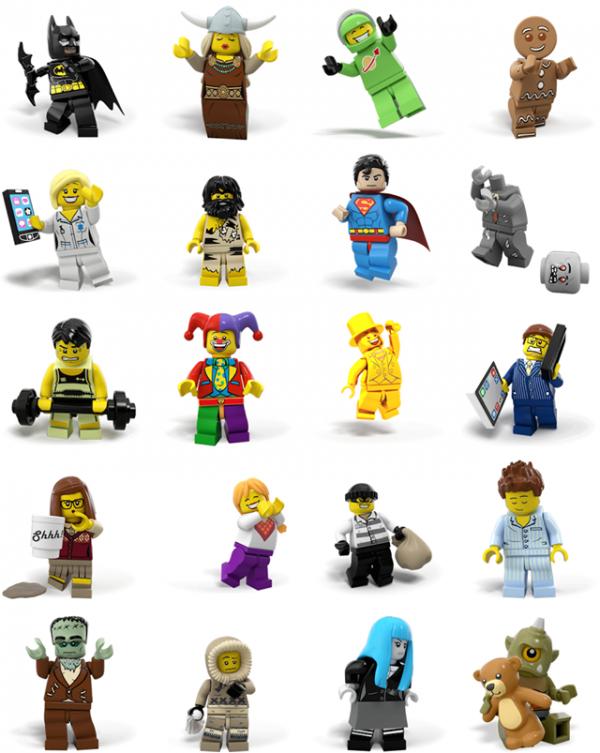 LEGO Minifigures Facebook Stickers
