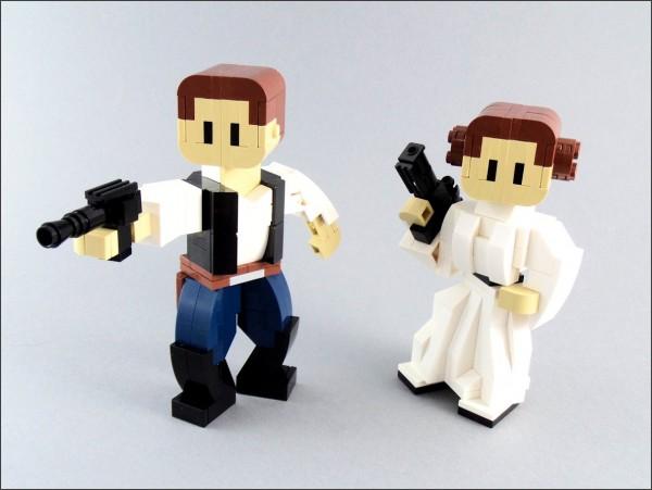 LEGO Han et Leia Brickfigures