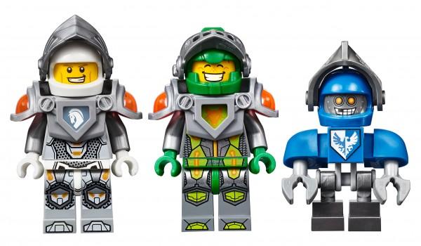 LEGO Nexo Knights minifigs Lance Aaron Claybot