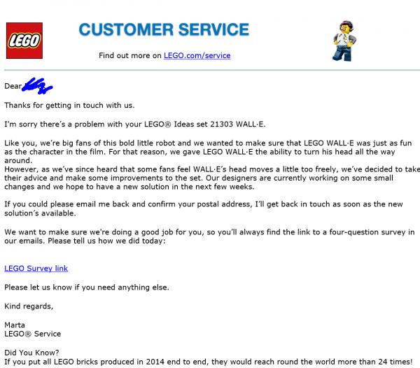 Reddit LEGO 21303 Wall-E