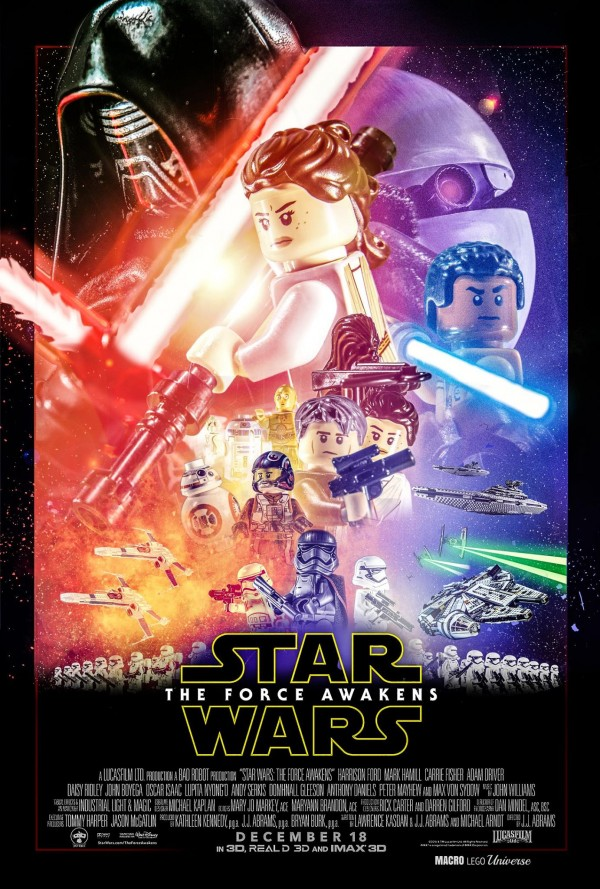 affiche LEGO The Force Awakens Star Wars