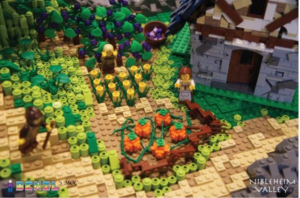 LEGO Nibleheim Valley Rivière fleurs