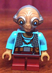 Maz Kanata LEGO face