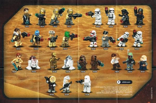 LEGO Star Wars 2016 H1 minifigs