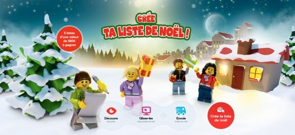Concours LEGO Crée ta liste de Noel