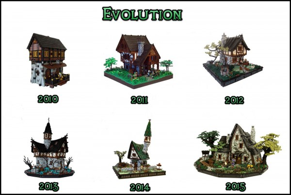 évolution LEGO Castle - A builder must keep evolving!