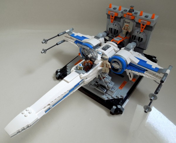 LEGO blue squadron X-Wing in Hangar