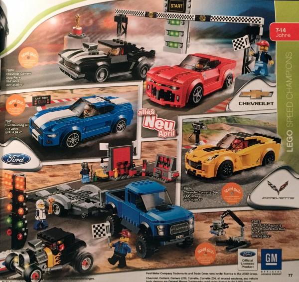 nouveautés catalogue LEGO 2016 Speed Champions