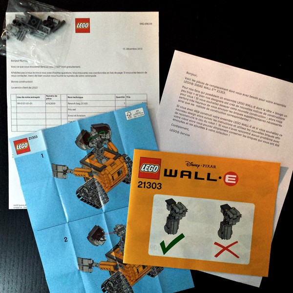 21303 WALL-E fix kit de correction
