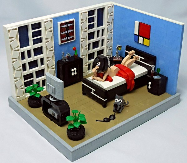 LEGO MOC Chambre avec vue