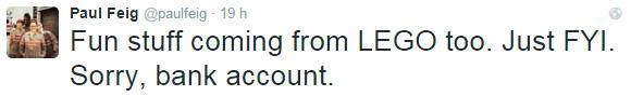 LEGO Ghostbusters Twitter