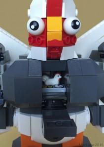 LEGO BokBokTron Meggatron Poulet cockpit