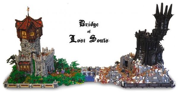 LEGO MOC Le Pont des âmes perdues