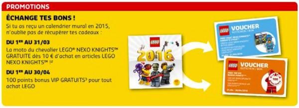 Calendrier 2016 LEGO