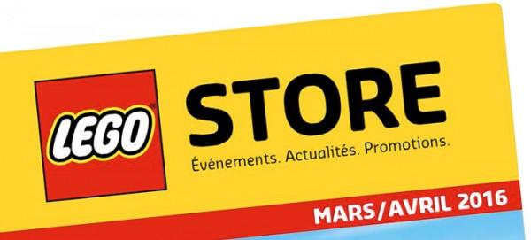 LEGO Store offres mars avril 2016 Store Calendar