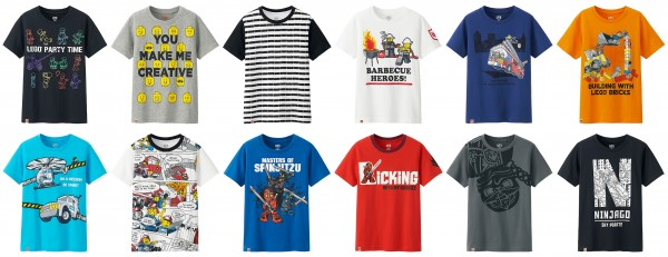LEGO Uniqlo t-shirts