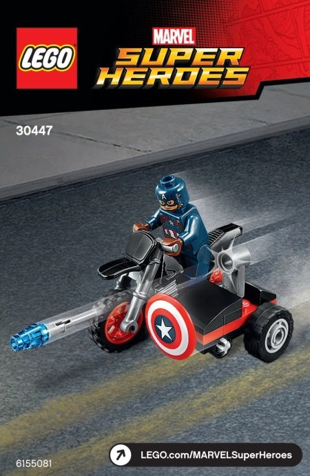 Polybag 30447 Marvel Super Heroes Captain America's Motorcycle