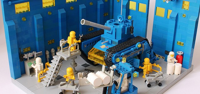 Tank LEGO Classic Space Blue Bull