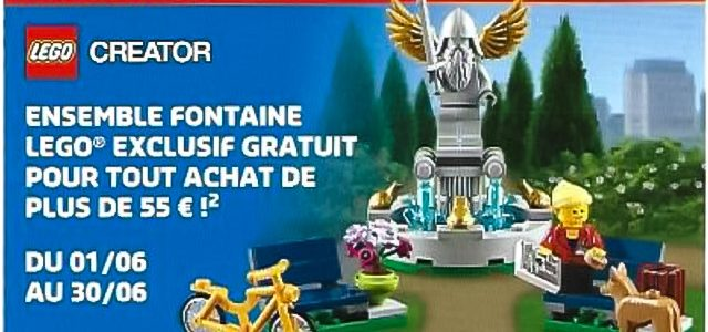 En juin chez LEGO : set Creator LEGO 40221 Fountain et poster Nexo Knights offerts