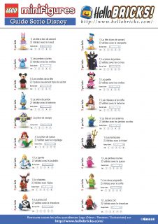 LEGO Disney Minifigurines Guide de tâtage de Gnaat pour HelloBricks