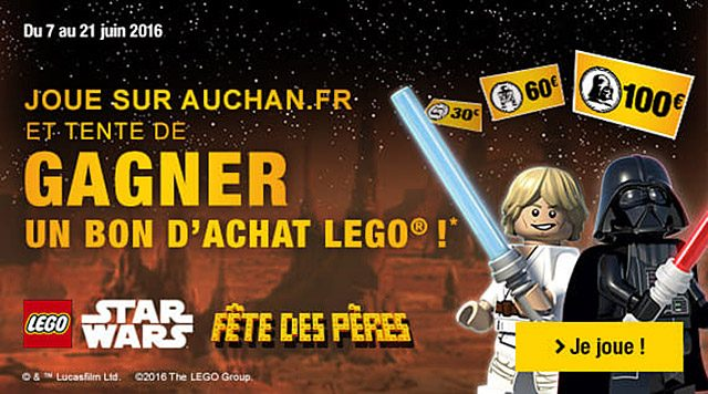 Bon plan Auchan LEGO Star Wars
