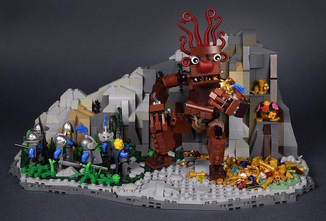 LEGO troll trésor