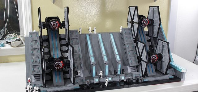 Star Wars The Force Awakens hangar TIE Fighters
