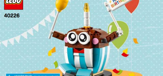 LEGO 40226 Seasonal Birthday Buddy cupcake