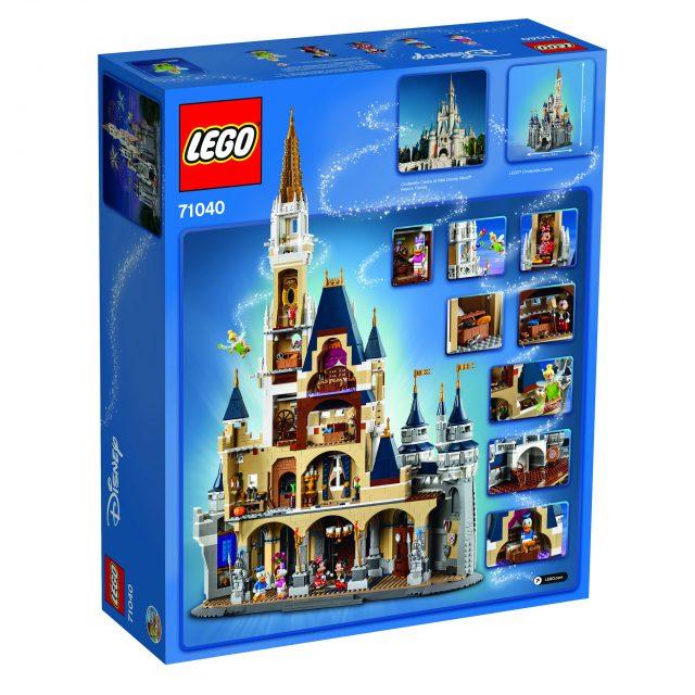 LEGO 71040 The Disney Castle back