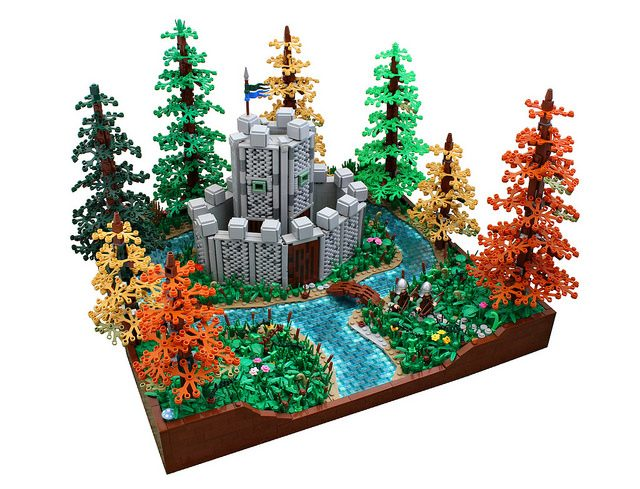 Nouvelle technique LEGO Castle texture murs