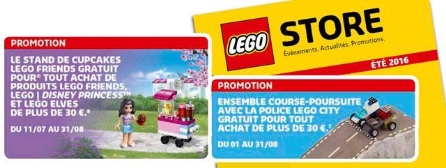 Offres LEGO été 2016 Shop@Home