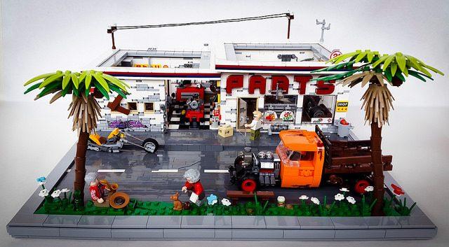 Garage LEGO pièces détachées