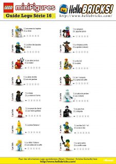 Guide de tatage LEGO CMF 16