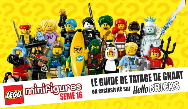 Guide de tatage LEGO Collectible Minifigures serie 16