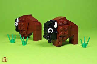 Animaux LEGO Bisons
