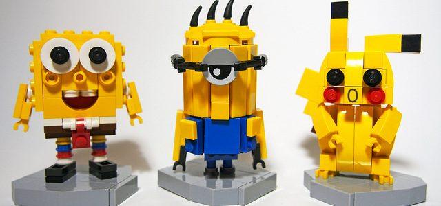 LEGO Bob l'éponge VS Minion VS Pikachu