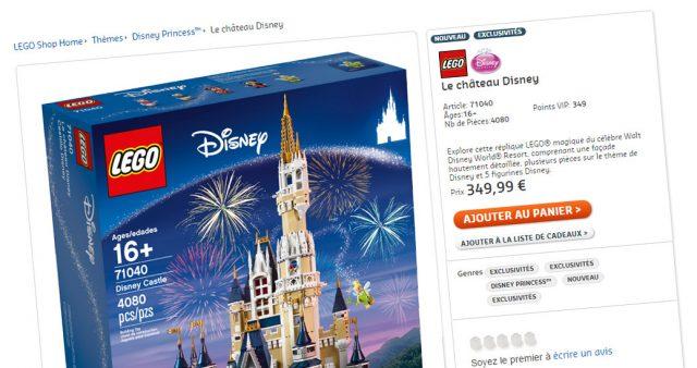 LEGO Disney Castle 71040 VIP