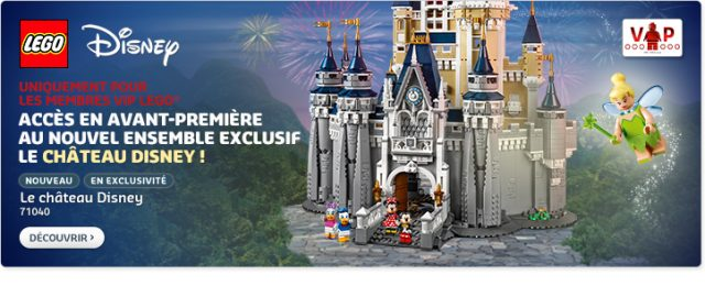 LEGO Disney Castle 71040 disponible VIP