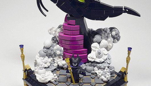 LEGO Malefique et son dragon