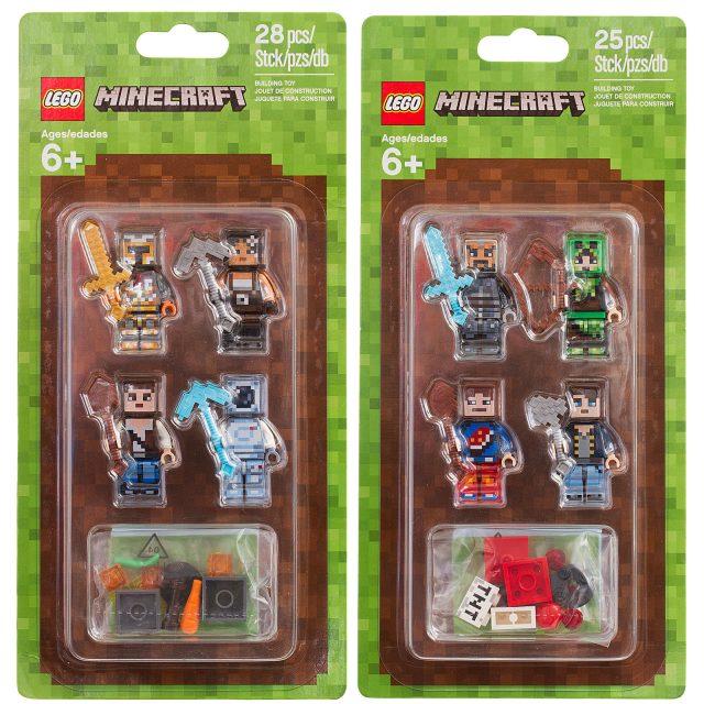 LEGO Minecraft 853609 853610 Skin Pack